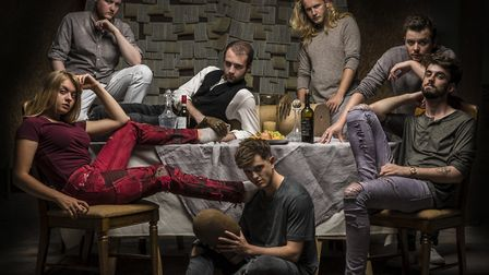 MOCO Theatre's usual all-male cast introduces a female actor. Picture: Patrick Watson Photography