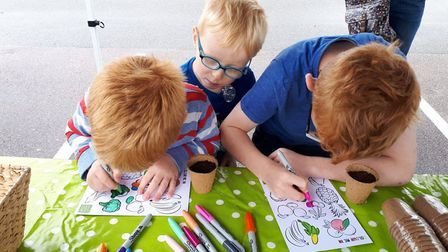 The GoGoHares sticker swap at Laundry Lane Co Op in Thorpe. Picture: GroundworkEast/Twitter