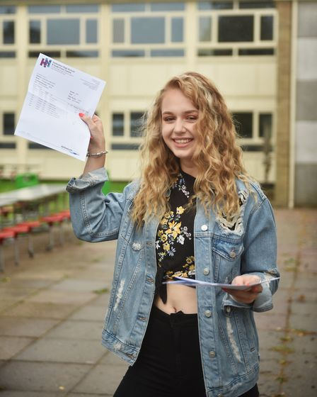 GCSE results day. Hellesdon High School. Phoebe Cater.Picture: ANTONY KELLY