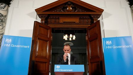 Brexit Secretary Dominic Raab during his speech in central London, on preparations for a no deal Bre