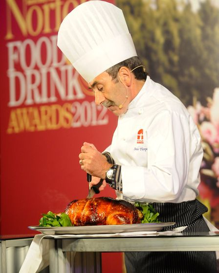 EDP Norfolk Food & Drink Awards 2012 at the Norfolk Showground. Steve Thorpe from City College Norwi