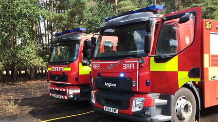Fire crews have attended three rubbish fires in an hour in Norfolk. Picture: Rebecca Murphy