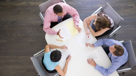 Collaborative law starts with a round table meeting. Picture: Getty Images