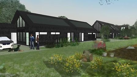 Impressions of eco-homes on Church Meadow in Wreningham that were turned down. Picture: South Norfol