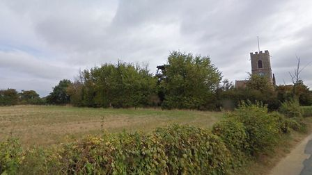 Church Meadow in Wreningham next to All Saints Church were the development would be been built. Pict