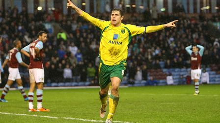 Typical Grant Holt - this time after scoring an equaliser at Burnley in February, 2011 Picture: Paul