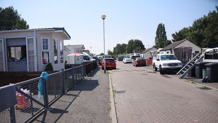 TheTravellers' site next to the Mile Cross Recycling Centre. Picture: DENISE BRADLEY