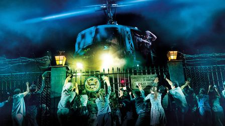 The spectacular helipcopter evacuation scene in Miss Saigon. Picture: Supplied by Norwich Theatre Ro