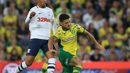 Ben Marshall has seen plenty of action for Norwich City since his Wolves move Picture: Paul Chestert