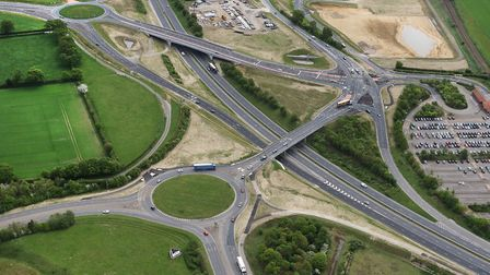 Resurfacing work on one of the bridges at Postwick will mean diversions for drivers. Picture: Mike P