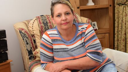 Michelle Tolley, who has been affected by the contaminated blood scandal. PHOTO BY SIMON FINLAY