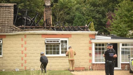 A man has died at a house fire in Feltwell. Picture: Ian Burt