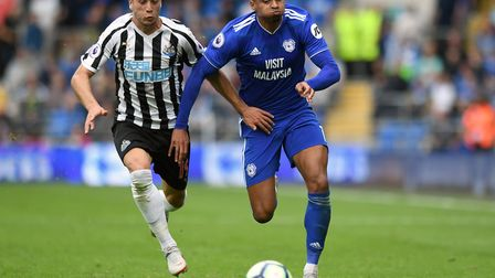Norwich could face former player Josh Murphy, right, during their cup tie at Cardiff Picture: Simon