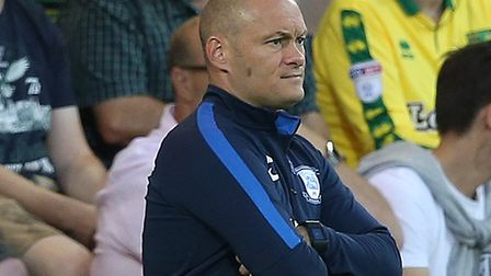 Alex Neil saw his Preston team beaten 2-0 at Carrow Road on Wednesday night Picture: Paul Chesterton