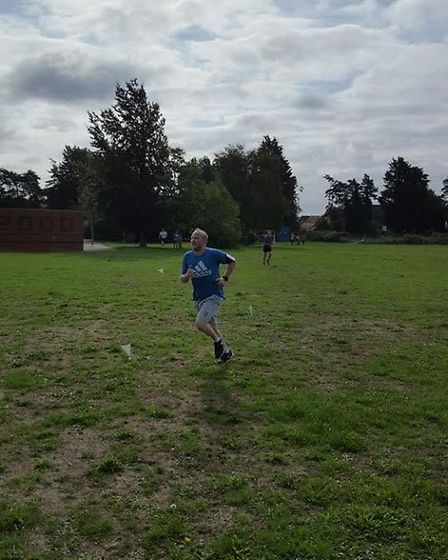 Mark Webb, who came in P13 with a time of 22:02 (a new PB), at Swaffham parkrun on Saturday 18th Aug