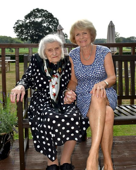 Wendene and her daughter Sarah at Brooke House. Photo: Kingsley Healthcare