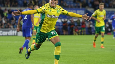 Max Aarons' face says it all, as he celebrates his first senior goal - and helps Norwich City progre