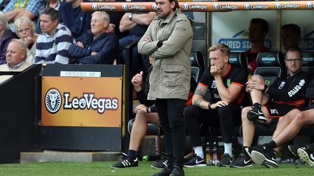 Daniel Farke watches as his City side lose to Leeds Picture: Paul Chesterton/Focus Images Ltd