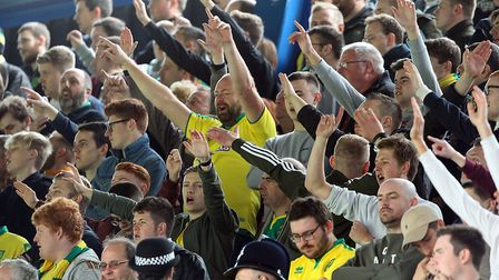 City fans in good voice at Portman Road on a previous derby day meeting. Picture: Paul Chesterton/Fo
