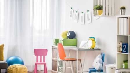 A suitable desk and chair are essential to establishing a good homework routine