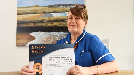 Artist Wendy Kimberley who's painting is going in the Royal Collection after she won a painting comp
