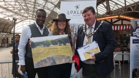 Wendy Kimberly at the 2018 En Plein Air competition, PHOTO: Windsor and Eton Town Partnership