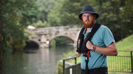 Broads Authority ranger, Christon Iliffe, helped save a man who had fallen into the river near Bisho