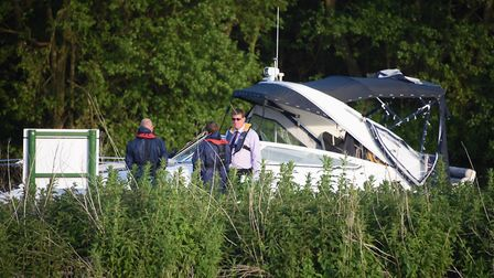 Emergency services at the scene of a carbon monoxide boating disaster near Wroxham in 2016 Picture: