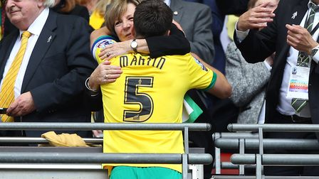 A Wembley kiss from Delia Smith after the play-off victory of 2015 Picture: Paul Chesterton/Focus Im