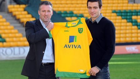 Paul Lambert introduces his latest loan signing Picture: Archant