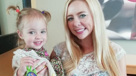Faye Ellis and her daughter Violet Photo: Archant