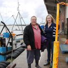 Fisherman Paul Lines with June Mummery in Lowestoft Picture: Maurice Gray