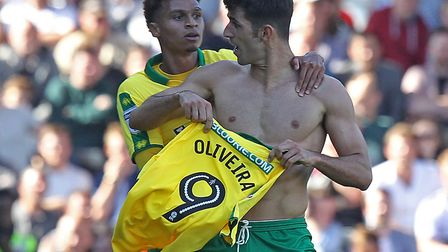Oliveira was not happy at being left on the bench at Fulham on the opening day of last season Pictur