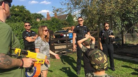 Police arrived at the Nerf gun party following reports of gunfire and children screaming. Picture: S