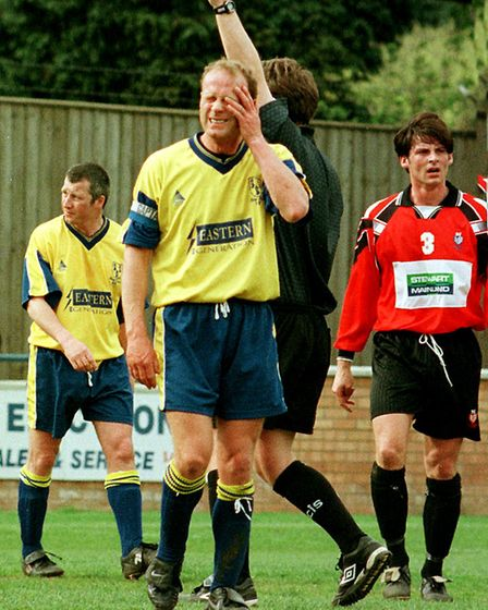 Jeremy Goss in action for King's Lynn Town. Picture: John Hocknell