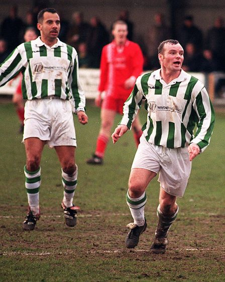 Robert Fleck and Dale Gordon in action for Gorleston. Picture: Archant