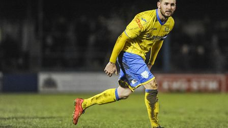 Former Norwich City winger David Bell in action for King's Lynn Town. Picture: Archant