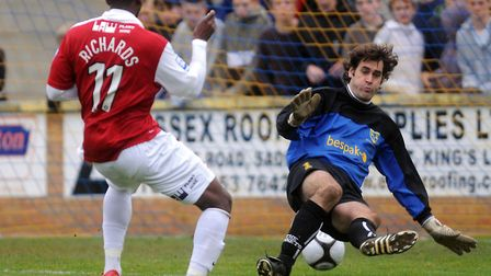 Scott Howie in action for King's Lynn Town. Picture: Archant