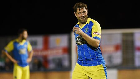Grant Holt during his brief spell with King's Lynn Town. Picture: Archant