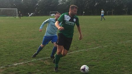 Grant Holt in action for Horsford Veterans. Picture: Horsford FC