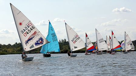 Action from the Broadland Youth Regatta Picture: Robin Myerscough