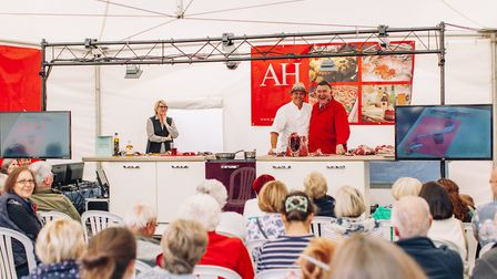 Inside the Mary Kemp Cookery Theatre at the North Norfolk Food Festival