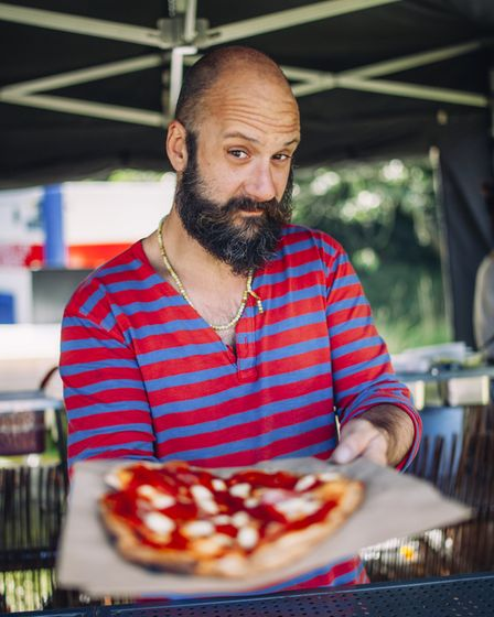 Pizza concession at the North Norfolk Food Festival