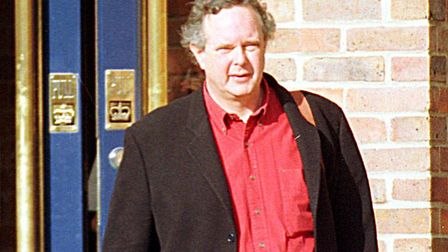 LORD PETER MELCHETT WALKS OUT OF NORWICH CROWN COURT AFTER THE THIRD DAY OF THE TRIAL.<5-4-00> edp 6