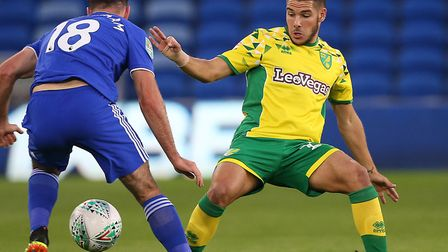 Emi Buendia shone on his full debut for Norwich City in the League Cup win at Cardiff Picture: Paul
