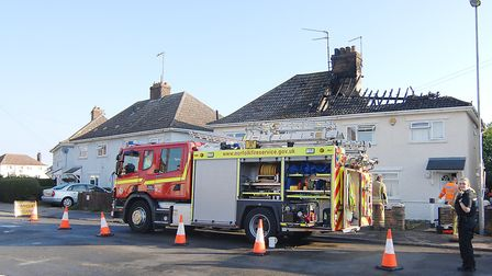 A house in Losinga Road, King's Lynn, has been gutted by fire Picture: Chris Bishop