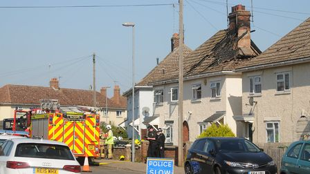 A body has been discovered in a house on Losinga Road in North Lynn. Picture: Ian Burt