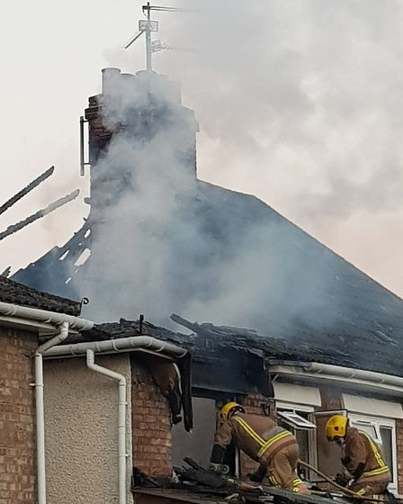Firefighters from King's Lynn, Terrington and Sandringham attended the incident Picture: Submitted