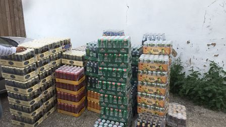 Alcohol seized from King's Lynn by HMRC. Picture: Norfolk Police