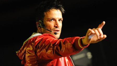 Peter Andre in concert at Norwich Show ground at the weekend.Photo by Simon Finlay